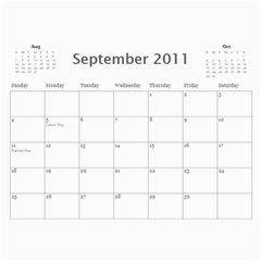 Family Calendar By Patricia W   Wall Calendar 11  X 8 5  (12 Months)   5k4dsklc7erw   Www Artscow Com Sep 2011