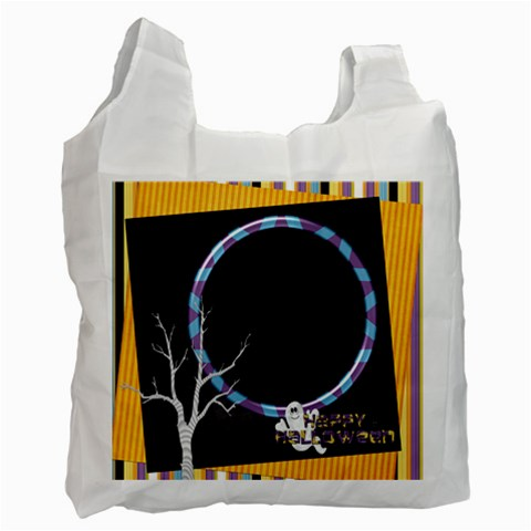 Not So Scary Trick Or Treat Bag 2 By Lisa Minor   Recycle Bag (one Side)   Cgzbi4jjgi94   Www Artscow Com Front