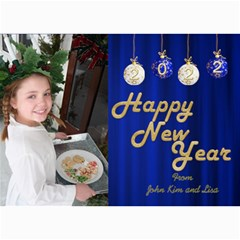 Happy New Year 2017 Photo Card 7x5 2 By Deborah   5  X 7  Photo Cards   6w9l5gu21cnk   Www Artscow Com 7 x5 Photo Card - 7