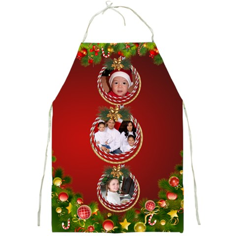 My Christmas Family Full Apron By Deborah   Full Print Apron   W0k9qx669o8c   Www Artscow Com Front