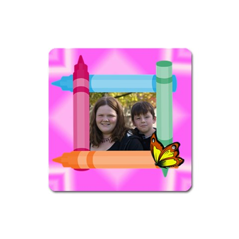 Crayon Magnet By Suzie   Magnet (square)   4c74g813jc4k   Www Artscow Com Front