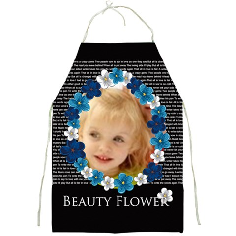 Beauty Flower By Joely   Full Print Apron   Zbira2xgnx0s   Www Artscow Com Front