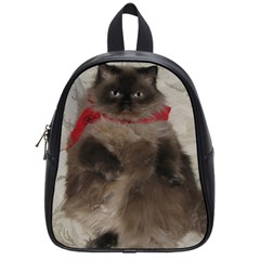 My Cat Small School Backpack by tammystotesandtreasures