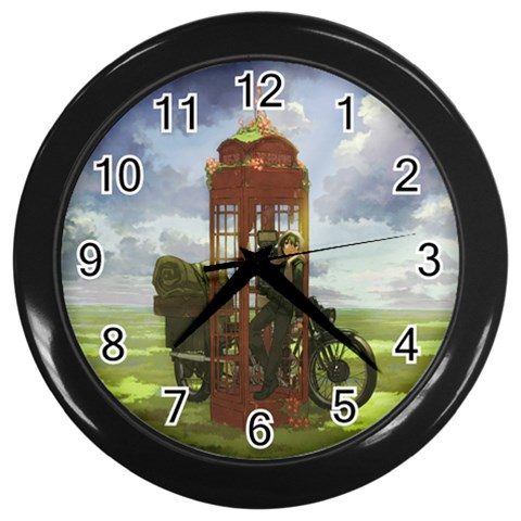 Kino By K Kaze   Wall Clock (black)   4059t0i3laeb   Www Artscow Com Front