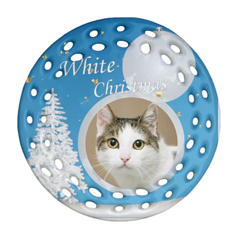Christmas By Joely   Ornament (round Filigree)   Yh6az4y25tt3   Www Artscow Com Front