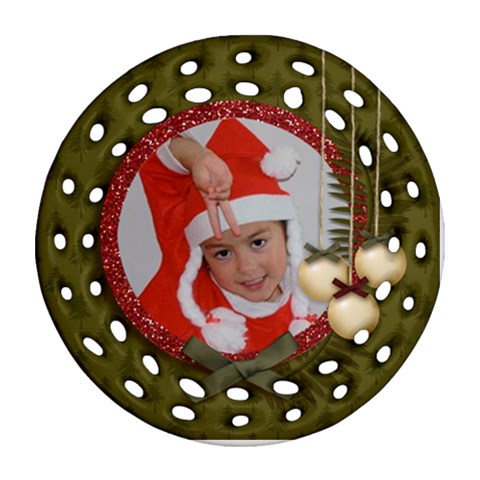 Ornament (round Filigree): Christmas12 By Jennyl   Ornament (round Filigree)   Wokl11b9v8vf   Www Artscow Com Front