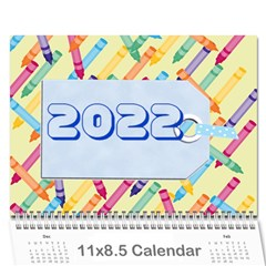 Kids Year Calendar 2015 By Kim Blair   Wall Calendar 11  X 8 5  (12 Months)   Qvred5mio5ey   Www Artscow Com Cover