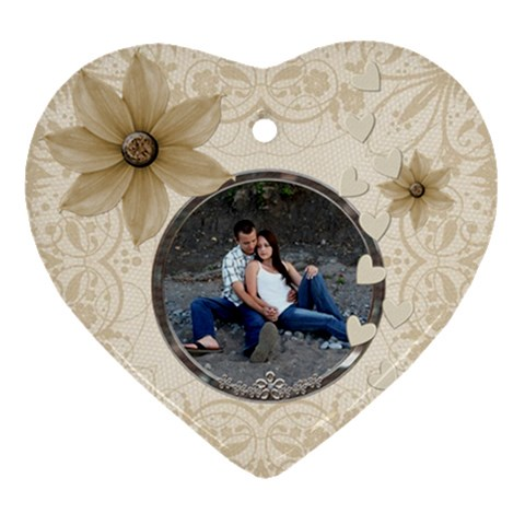 Pretty Love Heart Ornament By Lil    Ornament (heart)   G1v2bduo9fxr   Www Artscow Com Front