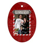 Festive Oval Ornament - Ornament (Oval)