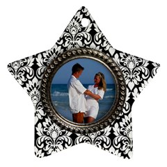 Damask Star Ornament 2 Sides By Mikki   Star Ornament (two Sides)   2sejiz7gz98e   Www Artscow Com Front
