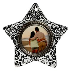 Damask Star Ornament 2 Sides By Mikki   Star Ornament (two Sides)   2sejiz7gz98e   Www Artscow Com Back