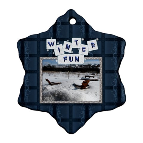 Winter Fun Snowflake Ornament By Lil    Ornament (snowflake)   Aedtalk5irfu   Www Artscow Com Front