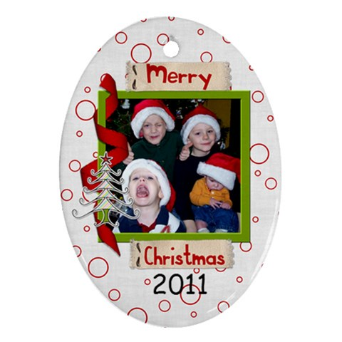 2011 Ornament 8 By Martha Meier   Ornament (oval)   Ojvvj71px8wu   Www Artscow Com Front