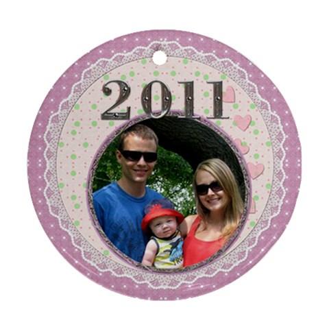 Pretty 2011 Round Ornament By Lil    Ornament (round)   Myz18whxfz0s   Www Artscow Com Front