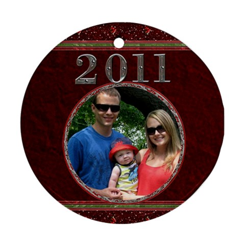 Red 2011 Round Ornament By Lil    Ornament (round)   4q54q5321k0d   Www Artscow Com Front