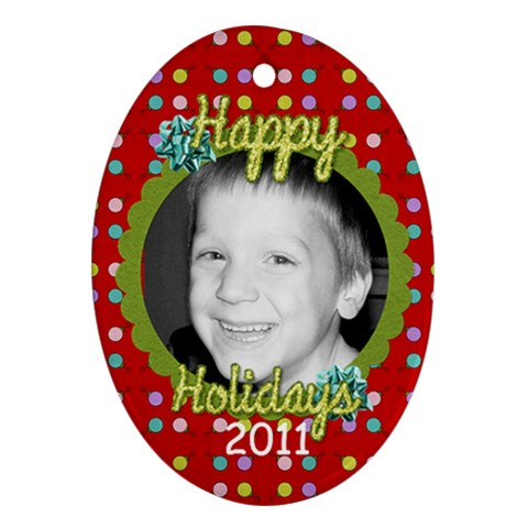 2011 Ornament 10 By Martha Meier   Ornament (oval)   43achr0efxyp   Www Artscow Com Front