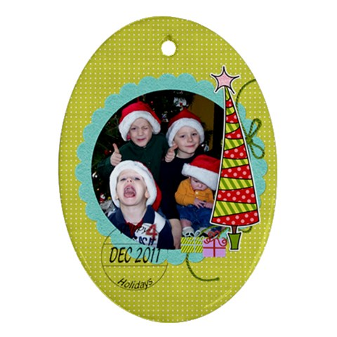 2011 Ornament 11 By Martha Meier   Ornament (oval)   0ouy4tf0hol8   Www Artscow Com Front