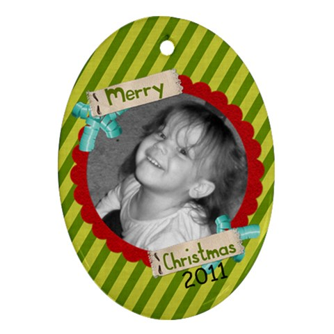 2011 Ornament 12 By Martha Meier   Ornament (oval)   Obd8nfg9q3k8   Www Artscow Com Front
