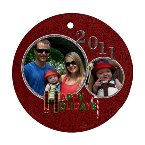 Happy Holidays 2011 Round Ornament By Lil    Ornament (round)   Brjro9sdipot   Www Artscow Com Front