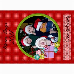 2011 Christmas Card 1 By Martha Meier   5  X 7  Photo Cards   Miqon3ss9216   Www Artscow Com 7 x5 Photo Card - 2