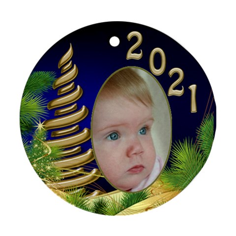 Christmas Round Ornament 1 By Deborah   Ornament (round)   Vk8pxay9ov8c   Www Artscow Com Front