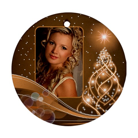 Christmas Round Ornament 3 By Deborah   Ornament (round)   Fuitva5eh35p   Www Artscow Com Front