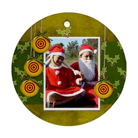 Ornament (round)   Christmas3 By Jennyl   Ornament (round)   A0b9ceoeomk1   Www Artscow Com Front