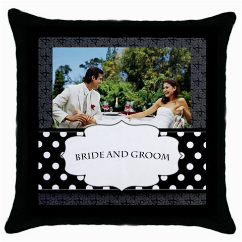 Wedding  By Joely   Throw Pillow Case (black)   Re41a9l9brp0   Www Artscow Com Front