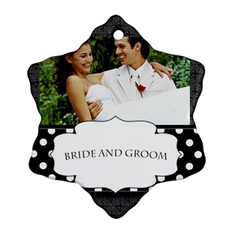 Wedding By Joely   Ornament (snowflake)   Jruoksayuml0   Www Artscow Com Front