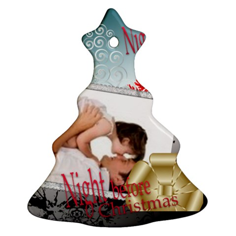 Christmas By Joely   Ornament (christmas Tree)    Fkk3x0p00rw6   Www Artscow Com Front