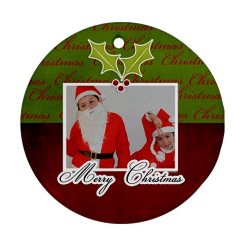 Ornament (round)   Christmas10 By Jennyl   Ornament (round)   24qkr8tvo7tz   Www Artscow Com Front