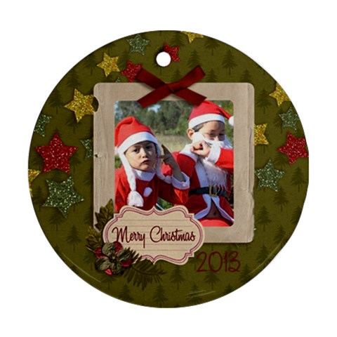 Ornament (round)   Christmas12 By Jennyl   Ornament (round)   Twjv7up88wqz   Www Artscow Com Front
