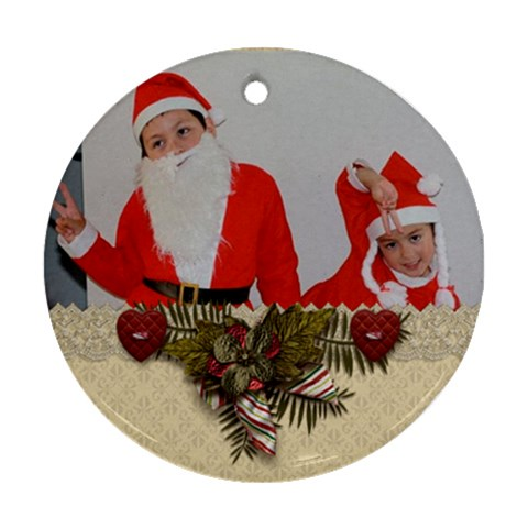 Ornament (round)   Christmas15 By Jennyl   Ornament (round)   F0b153h6lu6c   Www Artscow Com Front