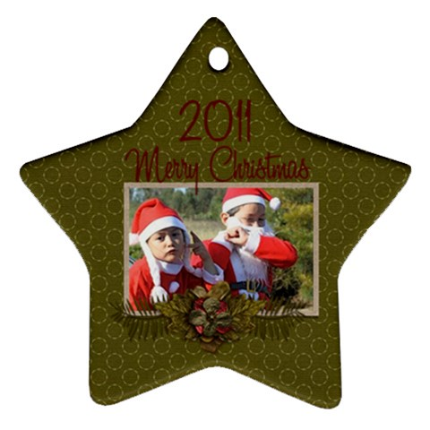 Ornament (star): Christmas11 By Jennyl   Ornament (star)   B5xpy29alrdm   Www Artscow Com Front