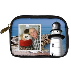 Lighthouse Leather Camera Case By Kim Blair   Digital Camera Leather Case   3yujs3shavy2   Www Artscow Com Front