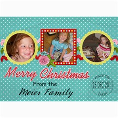 2011 Christmas Card 2b By Martha Meier   5  X 7  Photo Cards   7q8ggc33dahl   Www Artscow Com 7 x5 Photo Card - 3