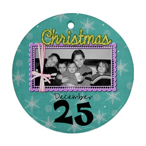 2011 Ornament 6b By Martha Meier   Ornament (round)   X4svzovbp0ti   Www Artscow Com Front