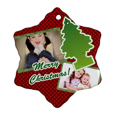 Merry Christmas By Wood Johnson   Ornament (snowflake)   00ziohuc7vkn   Www Artscow Com Front