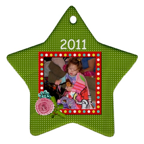 2011 Star Ornament 2 By Martha Meier   Ornament (star)   Cnzplzm9f3kn   Www Artscow Com Front