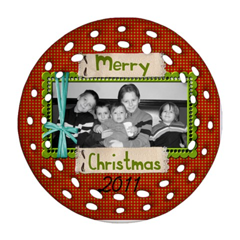 2011 Fancy Ornament 4 By Martha Meier   Ornament (round Filigree)   Ll0xlkft3apo   Www Artscow Com Front