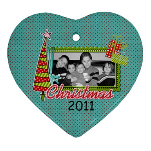 2011 Heart Ornament 1 By Martha Meier   Ornament (heart)   Ioipfn4ul48f   Www Artscow Com Front