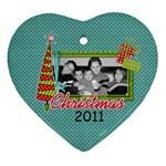 2011 Heart Ornament 1 - Ornament (Heart)
