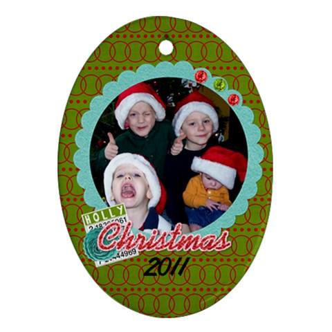 2011 Oval Ornament 2 By Martha Meier   Ornament (oval)   Pe6ek2bkgqzk   Www Artscow Com Front