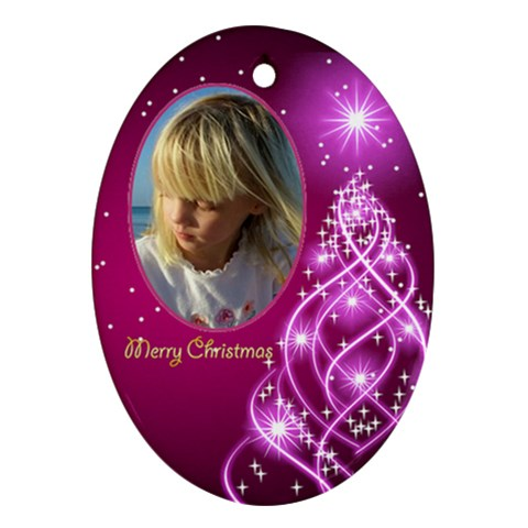 Christmas Oval Ornament 4 By Deborah   Ornament (oval)   Bi3eqaxutlqh   Www Artscow Com Front