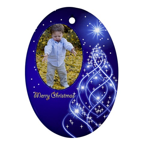 Christmas Oval Ornament 5 By Deborah   Ornament (oval)   V1onc0ztqmpw   Www Artscow Com Front