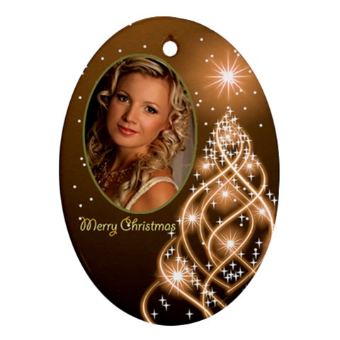 Christmas Oval Ornament 6 By Deborah   Ornament (oval)   Z2ky29r3jtiw   Www Artscow Com Front