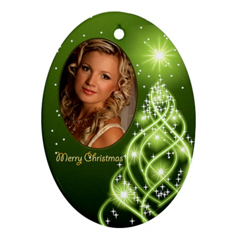 Christmas Oval Ornament 7 By Deborah   Ornament (oval)   B7has7kjbnvj   Www Artscow Com Front