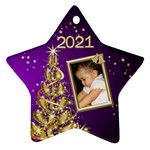 2012 Christmas star ornament pink - Ornament (Star)