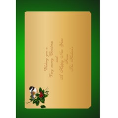 2017 5x7 Christmas Card (green) By Deborah   Greeting Card 5  X 7    0yfb3ldr7n2d   Www Artscow Com Back Inside
