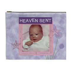 Heaven Sent Purple And Pink Xl Cosmetic Bag By Lil    Cosmetic Bag (xl)   Wqblia65z6yf   Www Artscow Com Front
